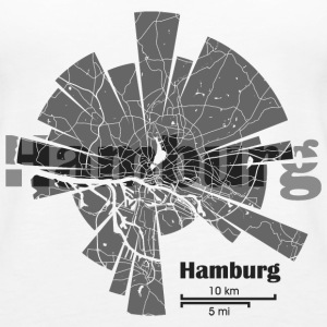 Hamburg Map Tops - Frauen Premium Tank Top