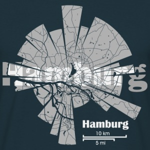 Hamburg Map T-Shirts - Men's T-Shirt