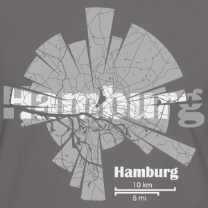 Hamburg Map Tee shirts - T-shirt contraste Homme