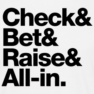 Check&Bet&Raise&All-in - white - T-shirt Homme