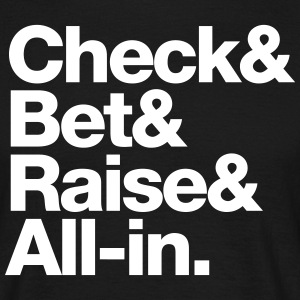 Check&Bet&Raise&All-in - black - T-shirt Homme