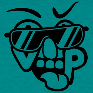 Comic cartoon face cool sunglasses vip important v T-Shirts - Men's T-Shirt