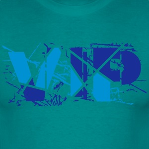 Blue pattern scratch cool vip logo design lines li T-Shirts - Men's T-Shirt
