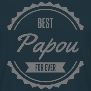 best papou papa father παππούς Tee shirts - T-shirt Homme