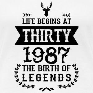 Birthday Shirt 1987 - Women's Premium T-Shirt