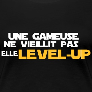 UNE gameuse elle level up Tee shirts - T-shirt Premium Femme