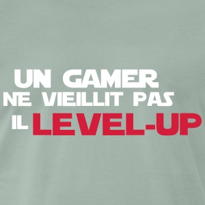 un gamer ne vieillit pas il Level up - T-shirt Premium Homme