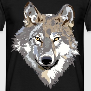 wolf face T-shirts - Mannen T-shirt