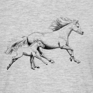 Mare with foal Camisetas - Camiseta hombre
