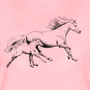 Mare with foal T-shirts - Vrouwen Premium T-shirt