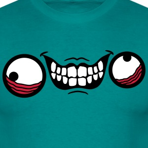 mad gezicht comic cartoon ontwerp koel gek gek ver T-shirts - Mannen T-shirt