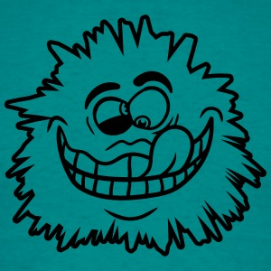 Squint hairy monster cuddly crazy funny comic cart T-Shirts - Men's T-Shirt