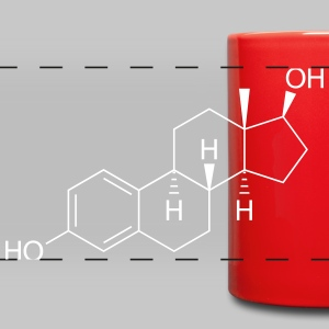 Estrogen (Female Sex Hormone) Molecule