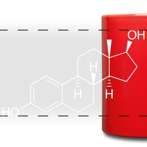 Estrogene (Female Sex Hormone) Molecule Mugs & Drinkware - Full Color Panoramic Mug