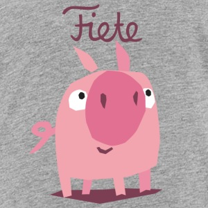 'Piggy' Fiete Kids Shirt - grey - Kinder Premium T-Shirt