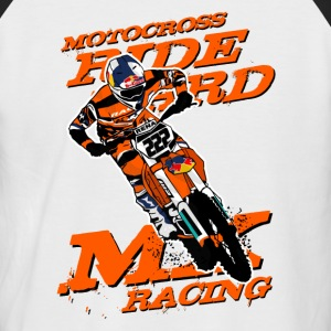 Moto Cross T-Shirts - Männer Baseball-T-Shirt