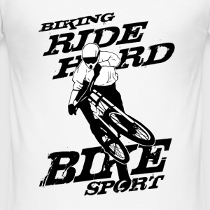 MTB - Biking T-Shirts - Männer Slim Fit T-Shirt