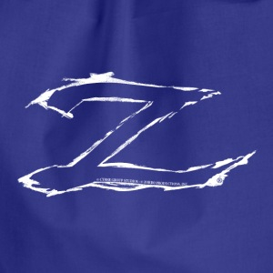 Zorro The Chronicles Trademark Letter Z - Drawstring Bag