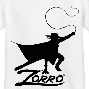 Zorro The Chronicles Silhouette Mit Peitsche - Kinder T-Shirt