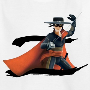 Zorro The Chronicles Masked Hero And Letter Z - Kinderen T-shirt