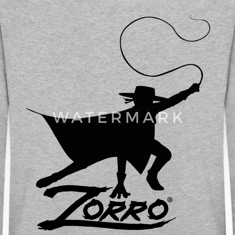 Zorro The Chronicles Silhouette With Whip - Maglietta Premium a manica lunga per bambini