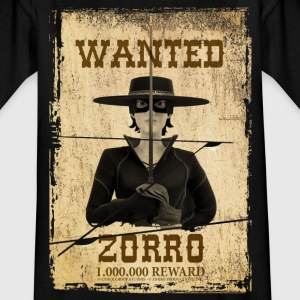 Zorro The Chronicles Wanted Poster - T-skjorte for tenåringer