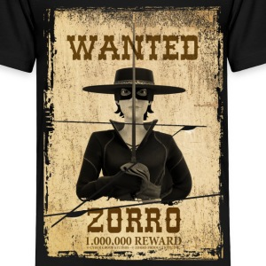 Zorro The Chronicles Wanted Poster - Premium-T-shirt barn