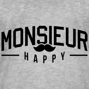 Monsieur-Happy Tee shirts - T-shirt vintage Homme
