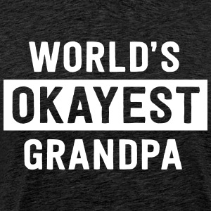 World's okayest grandpa T-Shirts - Men's Premium T-Shirt