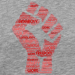 anarchy word cloud - Men's Premium T-Shirt
