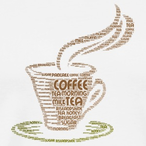 coffee word cloud - Men's Premium T-Shirt