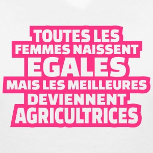 les meilleures deviennent agricultrices Tee shirts - T-shirt col V Femme