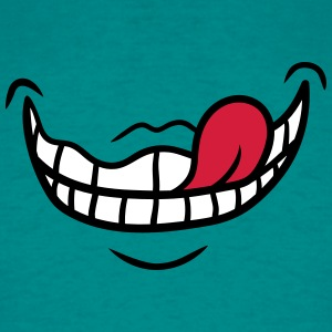 Mouth, crazy, crazy, face, comic, cartoon, funny T-Shirts - Men's T-Shirt