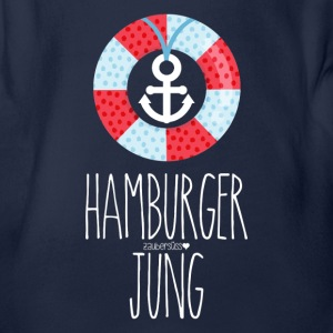 Hamburger Jung  Baby Bodys - Baby Bio-Kurzarm-Body