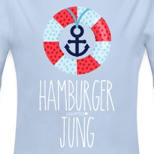 Hamburger Jung White Baby Bodys - Baby Bio-Langarm-Body