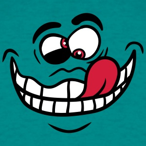 Laugh grimace crazy crazy face comic cartoon funny T-Shirts - Men's T-Shirt