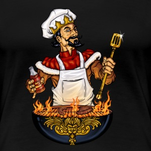 BBQ - king of barbeque - grill design - the grill is on fire - RAHMENLOS Geburtstags Geschenk T-Shirts - Frauen Premium T-Shirt