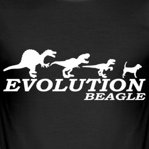 EVO.Beagle - Männer Slim Fit T-Shirt