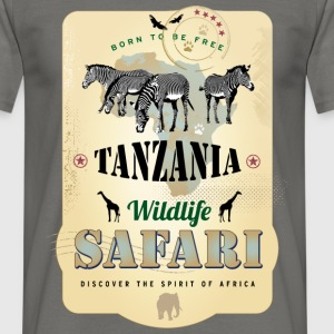 Zebras Wildlife Safari Tanzania Africa Adventure - Männer T-Shirt