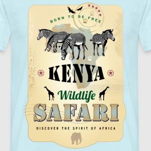 Zebras Wildlife Safari Kenya Africa Adventure - Männer T-Shirt