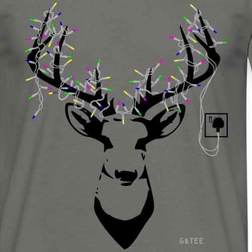 Reindeerlightdarkbackgrou