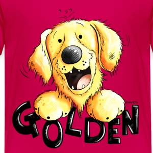 divertido Golden retriever Camisetas - Camiseta premium niño