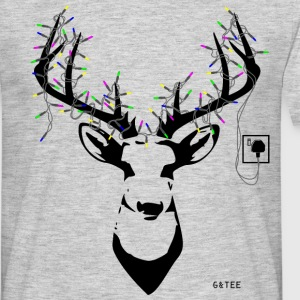 Stag men's T light grey - Men's T-Shirt
