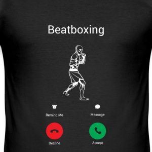 BEATBOXING IS CALLING! T-Shirts - Men's Slim Fit T-Shirt
