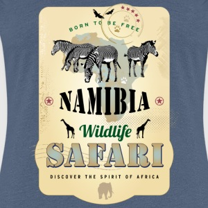 Zebras Wildlife Safari Namibia Africa Adventure - Frauen Premium T-Shirt