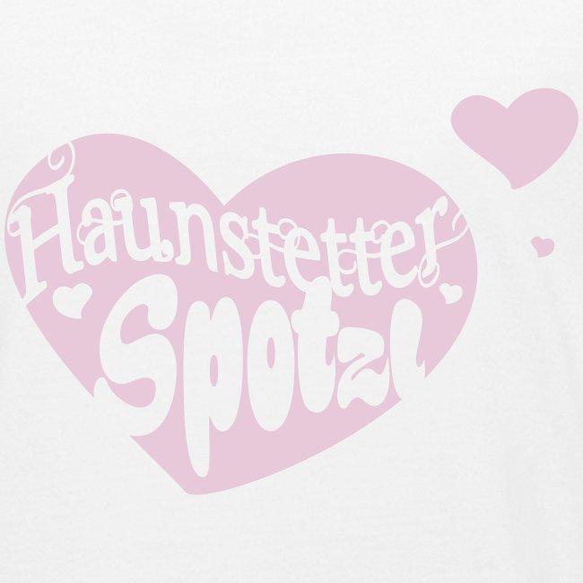Kinder Bio Shirt weiß   Haunstetter Spotzl   rose