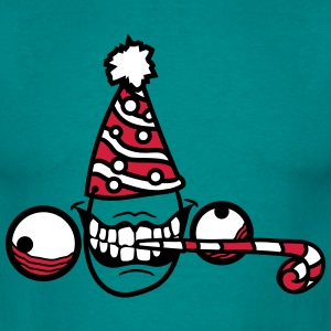 Birthday party celebrate hat mad gift insane face  T-Shirts - Men's T-Shirt