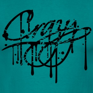 Design stamp scratch scratches graffiti spray drop T-Shirts - Men's T-Shirt