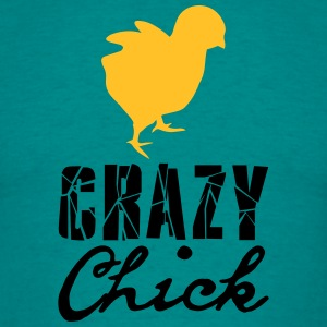 Crazy chick chicken chick chicken cock female fema T-Shirts - Men's T-Shirt