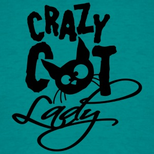 Crazy cat, lady, cat, love, crazy, pets, kitten, f T-Shirts - Men's T-Shirt